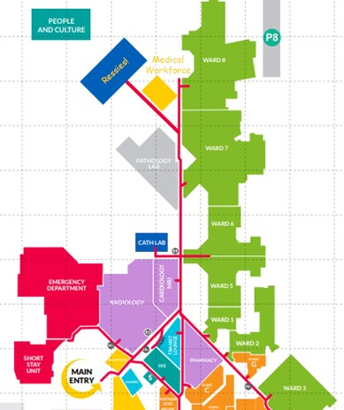 Map of Hospital Including Ressies
